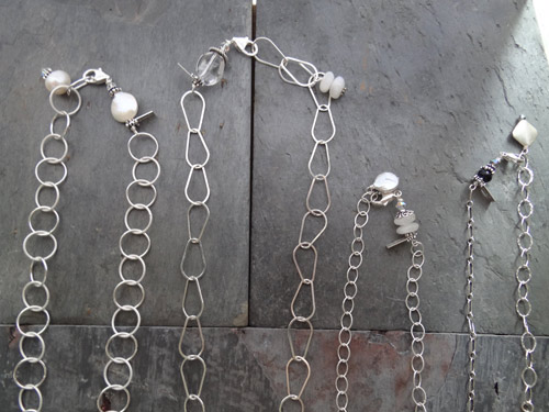 Image of Silver Chain and Component Charms