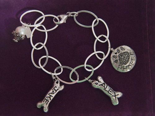 Image of Dogbone and Kitty-Paw Charm Bracelet